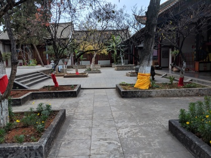 Training area in the temple
