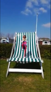 Phoebe on a BIG chair!!