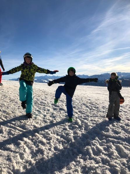 Sam, Alex, and Lukas in Austria